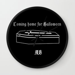Coming home for Halloween Wall Clock