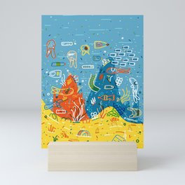 Plastic Sea Mini Art Print
