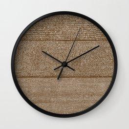 The Rosetta Stone // Dark Brown Wall Clock