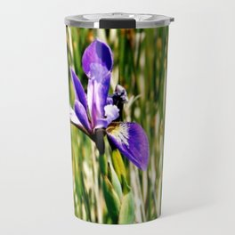 Wild iris on Seal Island, Nova Scotia Travel Mug