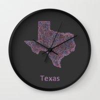 texas Wall Clocks featuring Texas by David Zydd