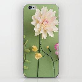 Crepe paper flowers iPhone Skin