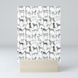 17 Dogs in ink Mini Art Print