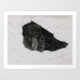 Ground Hog Art Print