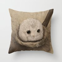 bubble Throw Pillows featuring Bubble by Mye Lim