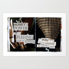 Money for Power Print Art Print