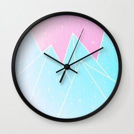 Sparkly Blue Crystals Design Wall Clock
