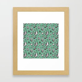pattern with snail and scull Framed Art Print