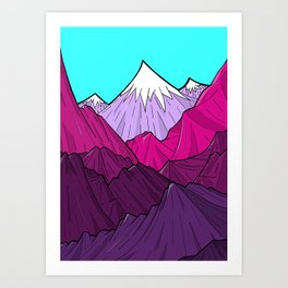 The Purple Mounts Art Print