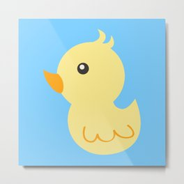Yellow rubber ducks illustration Metal Print