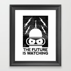 The Future Is Watching Framed Art Print