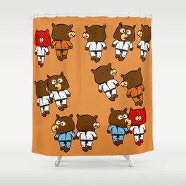 martial beartist of  judo karate ....  Shower Curtain