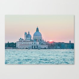 The Salute at Sunset in Venice Fine Art Print Canvas Print