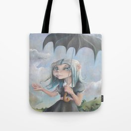 Z imagination Melancholy, Waiting for the Storm to Pass Tote Bag
