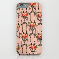Skeleton and Flowers. Slim Case iPhone 6