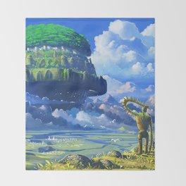 Castle in the sky Throw Blanket