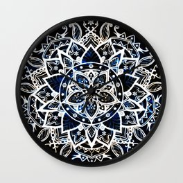 Radiant Zen Glowing Mandala Wall Clock