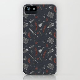 Questing Kit - Rust & Grey iPhone Case