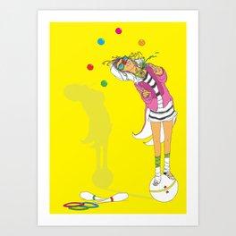 the performer Art Print