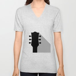 Guitar Headstock With Shadow Unisex V-Neck