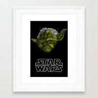 yoda Framed Art Prints featuring Yoda by Stormega