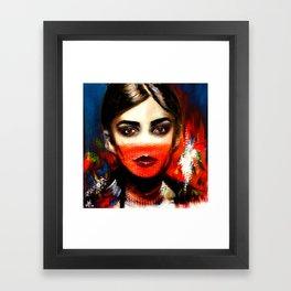 The Look Framed Art Print