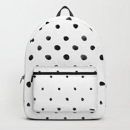 Dottie - black on white Backpack