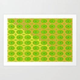 Pattern for vegetarian Art Print