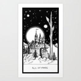 Ace of Wands Art Print