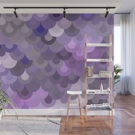 Purple Scales Wall Mural