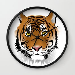Close up beautiful Samatran tiger Wall Clock