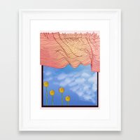 window Framed Art Prints featuring Window by Brontosaurus