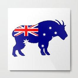 Australian Flag - Mountain Goat Metal Print