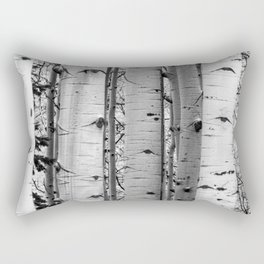 Into the Woods / Black & White Rectangular Pillow