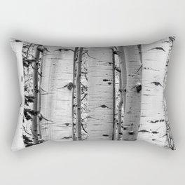 Into the Woods / Black & White Rectangular Pillow