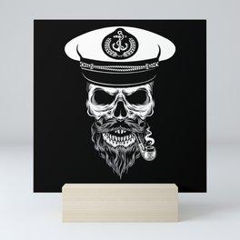 Captain Skull Sailor Gift Mini Art Print