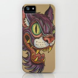 mean cat iPhone Case
