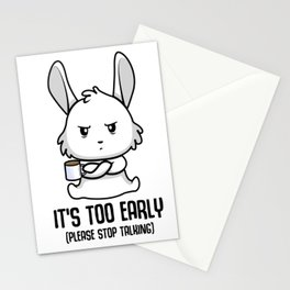Coffee late sleepers Bunny up early gift Stationery Cards