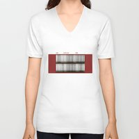 2001 a space odyssey V-neck T-shirts featuring 2001 A Space Odyssey by design.declanhackett