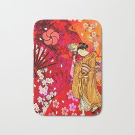 日没 (sunset) Bath Mat