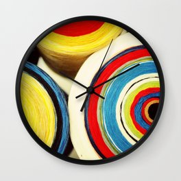 Sew Colourful Wall Clock