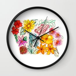Hand Painted Iowa State Map Wall Clock