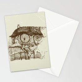 Hobbit house ink Stationery Cards