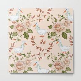 Goose Rose Metal Print
