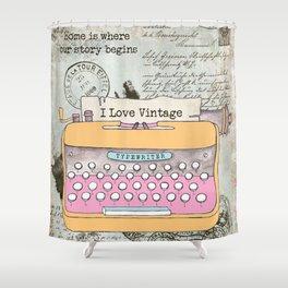 Typewriter #1 Shower Curtain