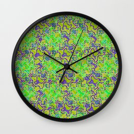 Polyp Green - Coral Reef Series 015 Wall Clock