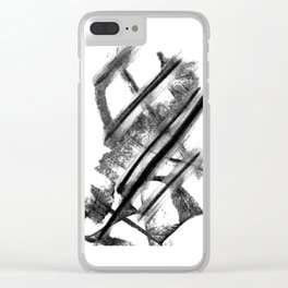 Minimalist Charcoal Gesture Drawing Clear iPhone Case