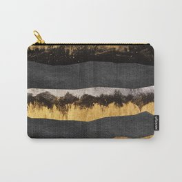 Golden Ocean Waves #1 #abstract #painting #decor #art #society6 Carry-All Pouch