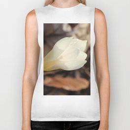 Single White Crocus Biker Tank