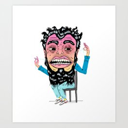 Floss Monster Art Print
